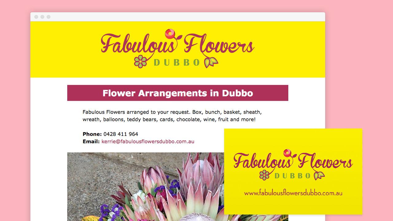 Warble Media - Fabulous Flowers Dubbo Branding