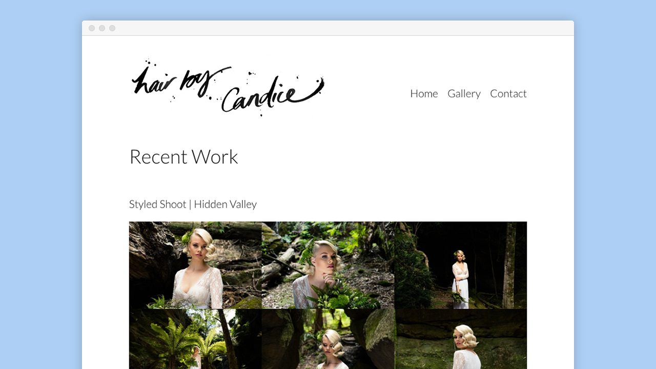 Warble Media - Hair By Candice Wordpress Website