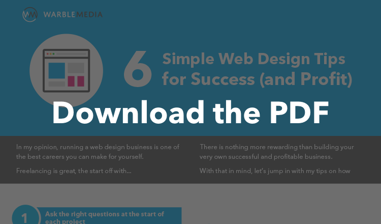 Download the Warble Media web design tips pdf